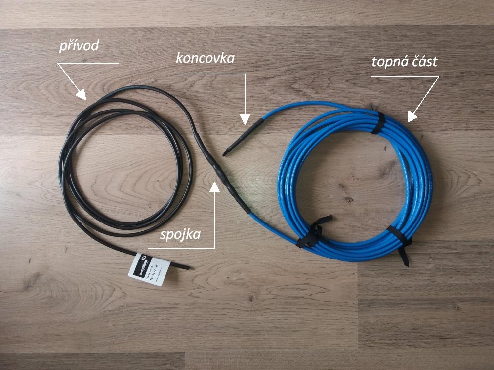 Odporový topný kabel