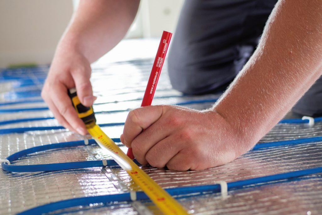 rozměřování roztěčí pro elektrické podlahové topení