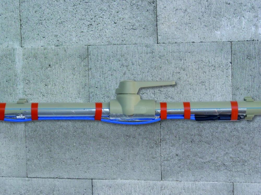 instalace topného kabelu PPC na potrubí