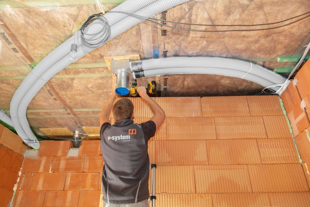 instalace vzduchotechnických rozvodů pro řízené větrání